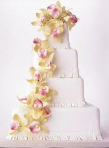 orchids-cake